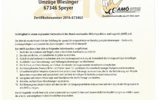 AMÖ Zertifikat 2016 II