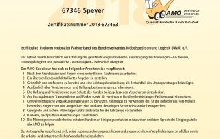 AMÖ Zertifikat 2018