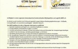 AMÖ Zertifikat Umzug Wiesinger II